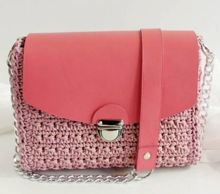 Crochet all day leather purse